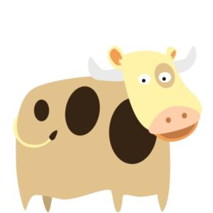 flashcard-color-animal-cow-baka