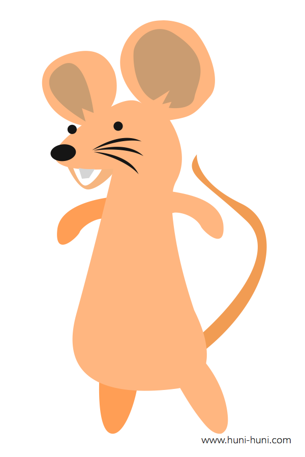 flashcard-color-animal-rat-ilaga