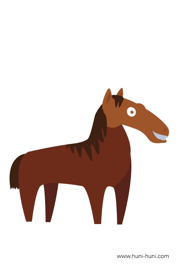 flashcard-color-animals-horse-kabayo