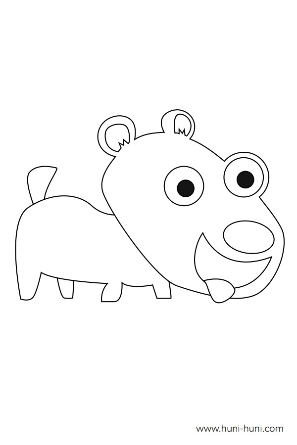 flashcard-coloring-page-outline-animal-puppy-itoy