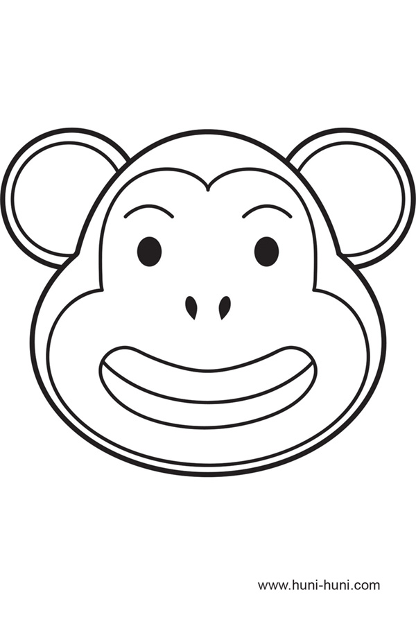 Monkey mask coloring coloring pages for Sock monkey face template