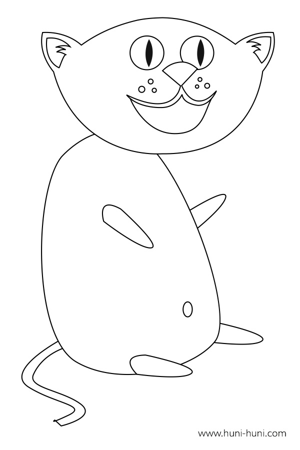 flashcard-coloring-page-outline-animals-cat-iring