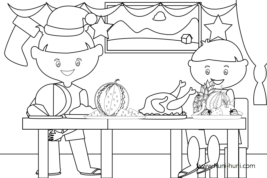flashcard-outline-coloringpage-pasko-nochebuena