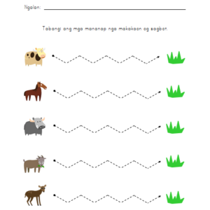 Prewriting Worksheet - Animals to Food