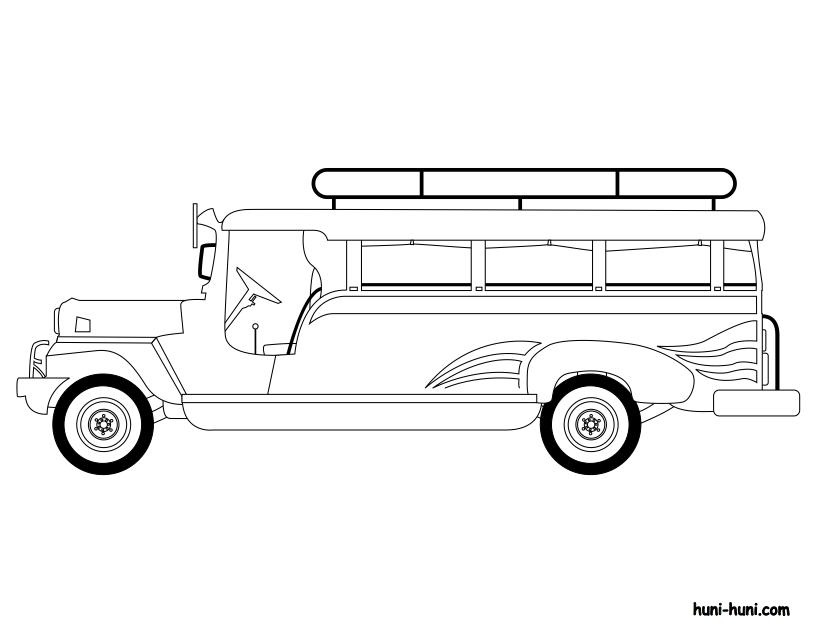 huni-huni-flashcard-coloring-page-outline-sakyanan-jeepney