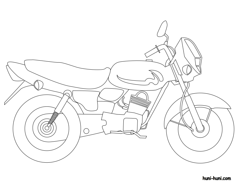 huni-huni-flashcard-coloring-page-outline-sakyanan-motorcycle