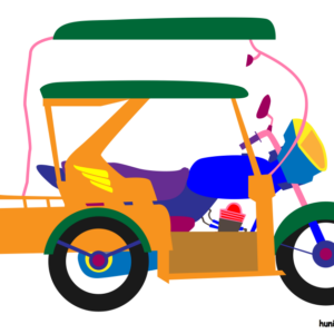 huni-huni-flashcard-tricycle-colored