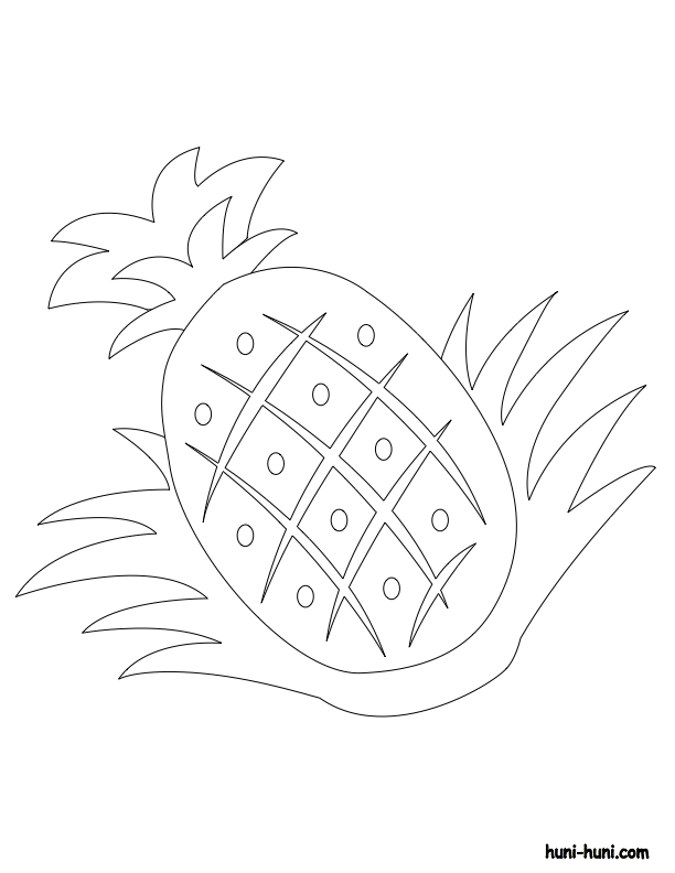 huni-huni-flashcard-coloring-page-outline-pinya-pineapple