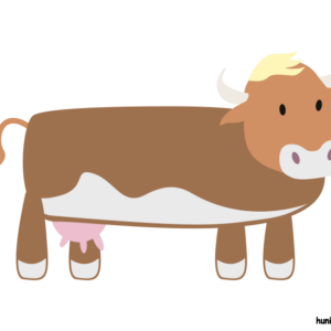 huni-huni-flashcard-baka-cow-colored