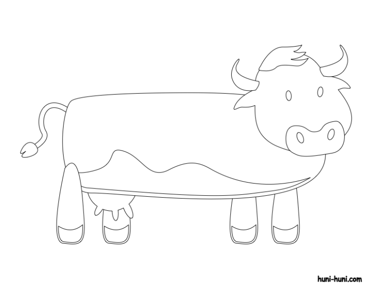 huni-huni-flashcard-coloring-page-outline-baka-cow