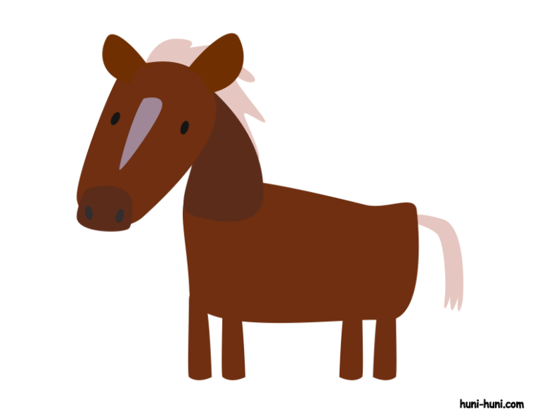 huni-huni-flashcard-colored-kabayo-horse
