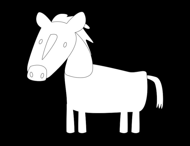 huni-huni-flashcard-coloring-page-outline-kabayo-horse