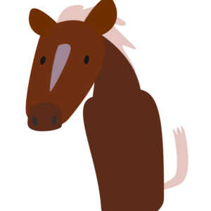 huni-huni-flashcard-kabayo-horse-finger-puppet-colored