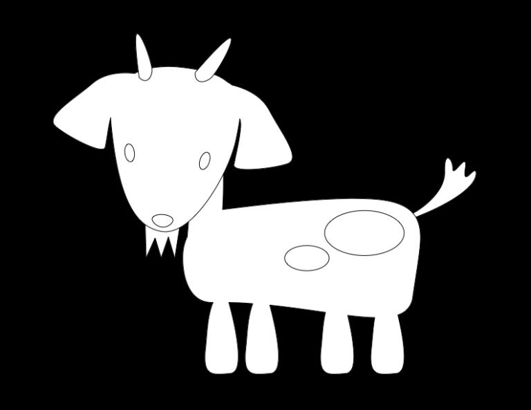 huni-huni-flashcard-coloring-page-outline-kanding-goat