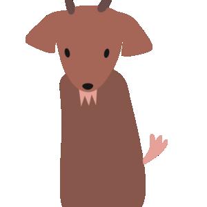 huni-huni-flashcard-kanding-goat-finger-puppet-colored