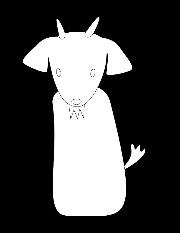 huni-huni-flashcard-coloring-page-outline-kanding-goat-fingerpuppet