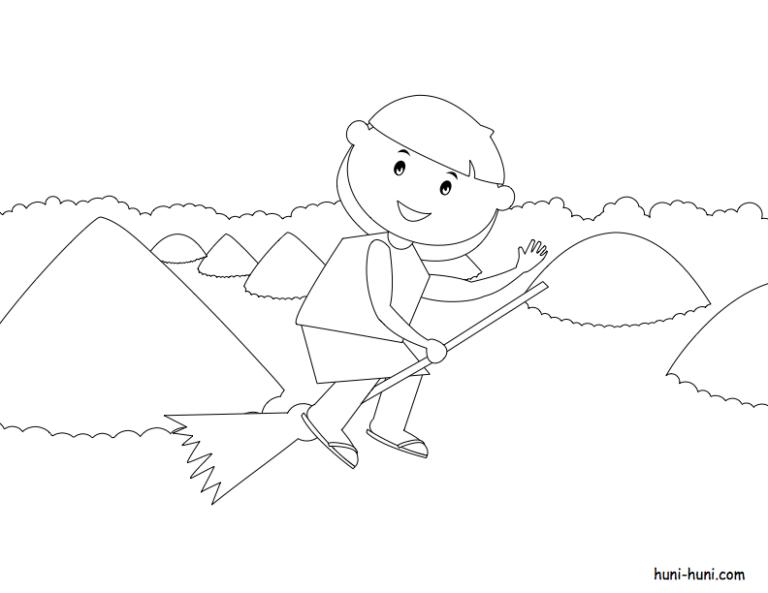 huni-huni-flashcard-coloring-page-outline-ChocolateHills-Bohol